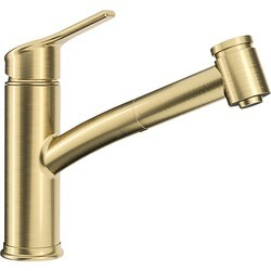 FRANKE FFPS4395 AMBIENT PULL-OUT 1-HOLE KITCHEN FAUCET IN BRUSHED GOLD