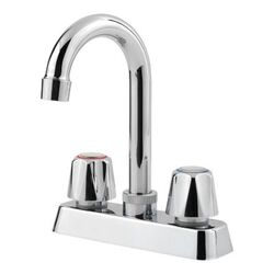 PFISTER G171-4000 PFIRST SERIES CLASSIC 7 3/4 INCH TWO KNOB HANDLES DECK MOUNT BAR AND PREP FAUCET - POLISHED CHROME