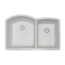 STRICTLY GC6040 G – SERIES 32 INCH 60/40 DOUBLE BOWL UNDERMOUNT GRANITE COMPOSITE SINK