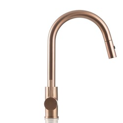 STRICTLY KF1400 GOOSE NECK SINGLE HOLE PULL-DOWN KITCHEN FAUCET