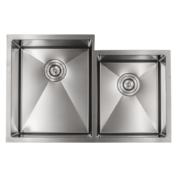 STRICTLY R6040 32 INCH DOUBLE BOWL 60/40 STAINLESS STEEL 3/4 RADIUS UNDERMOUNT KITCHEN SINK