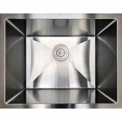 STRICTLY RLAUNDRY 23 INCH SINGLE BOWL 16 GAUGE 304 STAINLESS STEEL LAUNDRY SINK