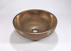 LEGION FURNITURE ZA-228 17 INCH PORCELAIN SINK BOWL IN ANTIQUE BROZE