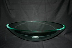 LEGION FURNITURE ZB-5 21 INCH TEMPERED GLASS OVAL SINK IN CLEAR