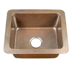 BARCLAY 6911-AC REECE 21 INCH SINGLE BOWL DROP-IN KITCHEN SINK - HAMMERED ANTIQUE COPPER