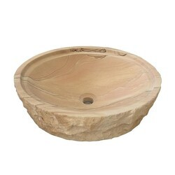 BARCLAY 7-733 MESQUITE 18 INCH SINGLE BASIN ABOVE COUNTER BATHROOM SINK - NATURAL SANDSTONE