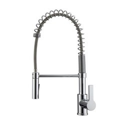 BARCLAY KFS417-L1 NIKITA 18 1/2 INCH SINGLE HOLE DECK MOUNT SPRING KITCHEN FAUCET WITH PULL-DOWN SPRAY AND LEVER HANDLE