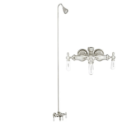BARCLAY 4030-PL-CP 9 INCH WALL MOUNT LEVER HANDLES TUB FILLER WITH SHOWERHEAD AND DIVERTER