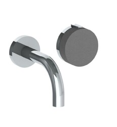 WATERMARK 21-1.2S ELEMENTS 2 7/8 INCH TWO HOLES WALL MOUNT BATHROOM FAUCET WITH KNOB HANDLE