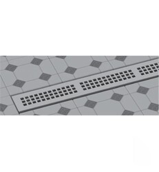 WATERMARK LD7-44 LINEAR SHOWER DRAINS TRIM KIT WITH HEIGHT ADJUSTABLE GRATE