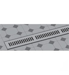 WATERMARK LD6-48 LINEAR SHOWER DRAINS TRIM KIT WITH HEIGHT ADJUSTABLE GRATE