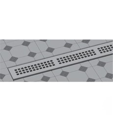 WATERMARK LD7-48 LINEAR SHOWER DRAINS TRIM KIT WITH HEIGHT ADJUSTABLE GRATE