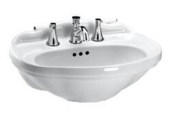 TOTO LT754.8 WHITNEY 25 X 19 INCH LAVATORY WITH 8 INCH FAUCET CENTERS