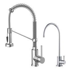 KRAUS KPF-1610-FF-100 BOLDEN COMMERCIAL STYLE PULL-DOWN KITCHEN FAUCET AND PURITA WATER FILTER FAUCET COMBO