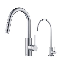 KRAUS KPF-2620-FF-100 OLETTO PULL-DOWN KITCHEN FAUCET AND PURITA WATER FILTER FAUCET COMBO