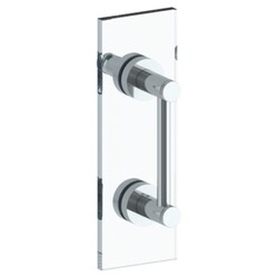 WATERMARK 111-0.1-18SDP SUTTON 18 INCH GLASS MOUNT SHOWER DOOR PULL WITH KNOB AND HOOK
