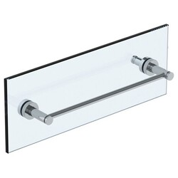 WATERMARK 23-0.1A-SDP LOFT 24 INCH GLASS MOUNT SHOWER DOOR PULL WITH KNOB AND HOOK