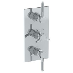 WATERMARK 111-T30 SUTTON 6 1/4 X 12 INCH WALL MOUNT THERMOSTATIC SHOWER TRIM WITH TWO BUILT-IN CONTROLS