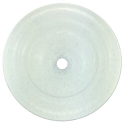 LINKASINK AG06G-01 GLASS CRACKLE 13.5 INCH ARTISAN GLASS SMALL ROUND WHITE VESSEL SINK