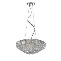 OVE DECORS 15LCH-MIO623-RSMHO MIO VI 7-LIGHT LED CHANDELIER CHROME FINISH WITH DECORATIVE CRYSTALS