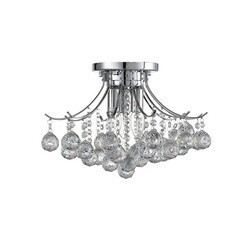 OVE DECORS 15LCH-WARS16-CHRKY WARSAW 3-LIGHT CHROME CONTEMPORARY TIERED LED CHANDELIER