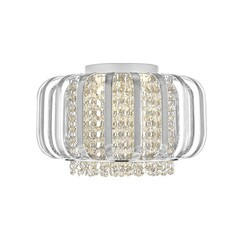 OVE DECORS 15LFM-ADE314-RSMHO ADELIZZA III LED INTEGRATED FLUSH MOUNT CEILING FIXTURE WITH CRYSTAL ACCENTS