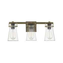 OVE DECORS 15LVA-AUD321-WOOKY AUDLEY III 3-LIGHT MULTIPLE COLORS TRANSITIONAL VANITY LIGHT