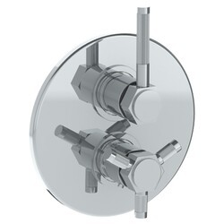 WATERMARK 111-T20 SUTTON 7 1/2 INCH WALL MOUNT THERMOSTATIC SHOWER TRIM WITH BUILT-IN CONTROL