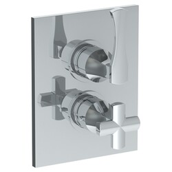 WATERMARK 125-T20 CHELSEA 6 1/4 X 8 INCH WALL MOUNT THERMOSTATIC SHOWER TRIM WITH BUILT-IN CONTROL