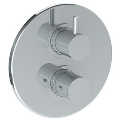 WATERMARK 22-T20 TITANIUM 7 1/2 INCH WALL MOUNT THERMOSTATIC SHOWER TRIM WITH BUILT-IN CONTROL