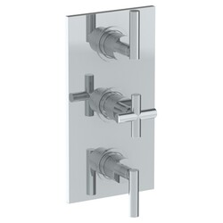 WATERMARK 27-T30 SENSE 6 1/4 X 12 INCH WALL MOUNT THERMOSTATIC SHOWER TRIM WITH TWO BUILT-IN CONTROL