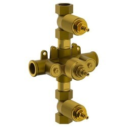 WATERMARK SS-TH6000 3/4 INCH THERMOSTATIC VALVE WITH TWO CONTROLS AND INTEGRAL STOPS
