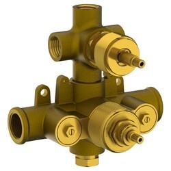 WATERMARK SS-THVD3 1/2 INCH THERMOSTATIC VALVE WITH VOLUME CONTROL AND THREE WAY DIVERTER