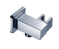MOUNTAIN PLUMBING MT51S MOUNTAIN REVIVE 2 1/8 INCH SQUARE WATERWAY ELBOW WITH ADJUSTABLE HAND SHOWER HOLDER