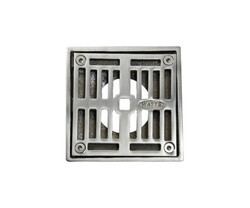 MOUNTAIN PLUMBING MT506-GRID 4 INCH SQUARE SOLID NICKEL BRONZE PLATED GRID SHOWER DRAIN