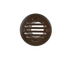MOUNTAIN PLUMBING MT507-GRID 4 INCH ROUND SOLID NICKEL BRONZE PLATED GRID SHOWER DRAIN