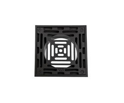 MOUNTAIN PLUMBING MT508-GRID 6 INCH SQUARE SOLID NICKEL BRONZE PLATED GRID SHOWER DRAIN