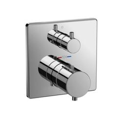 TOTO TBV02403U SQUARE THERMOSTATIC MIXING VALVE WITH VOLUME CONTROL SHOWER TRIM