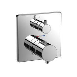 TOTO TBV02404U SQUARE THERMOSTATIC MIXING VALVE WITH TWO-WAY DIVERTER SHOWER TRIM