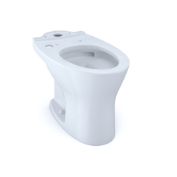 TOTO CT746CUFGT40#01 DRAKE DUAL FLUSH ELONGATED UNIVERSAL HEIGHT TOILET BOWL WITH CEFIONTECT, WASHLET+ READY IN COTTON WHITE