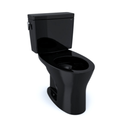 TOTO CST746CUMF#51 DRAKE 1G TWO-PIECE ELONGATED DUAL FLUSH 1.0 AND 0.8 GPF UNIVERSAL HEIGHT DYNAMAX TORNADO FLUSH TOILET IN EBONY