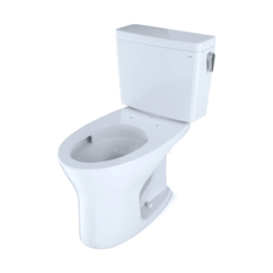 TOTO CST746CUMFRG#01 DRAKE TWO-PIECE ELONGATED DUAL FLUSH 1.0 AND 0.8 GPF UNIVERSAL HEIGHT DYNAMAX TORNADO FLUSH TOILET WITH CEFIONTECT AND RIGHT-HAND TRIP LEVER IN COTTON WHITE