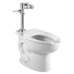 AMERICAN STANDARD 2858.016.020 MADERA 1.6 GPF TOILET WITH EXPOSED MANUAL FLUSH VALVE SYSTEM