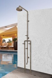 SONOMA FORGE WB-SHW-1070 WATERBRIDGE 91 3/4 INCH FLOOR MOUNT EXPOSED SHOWER SYSTEM WITH FOOTWASH
