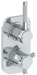 WATERMARK 111-T25 SUTTON 6 3/8 X 3 1/2 INCH WALL MOUNT THERMOSTATIC SHOWER TRIM WITH BUILT-IN CONTROL