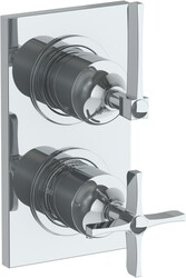 WATERMARK 115-T25 H-LINE 6 3/8 X 3 1/2 INCH WALL MOUNT THERMOSTATIC SHOWER TRIM WITH BUILT-IN CONTROL