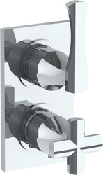 WATERMARK 125-T25 CHELSEA 6 3/8 X 3 1/2 INCH WALL MOUNT THERMOSTATIC SHOWER TRIM WITH BUILT-IN CONTROL