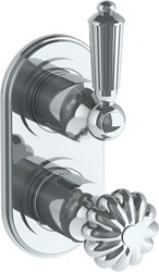 WATERMARK 180-T25 VENETIAN 6 1/4 X 3 1/8 INCH WALL MOUNT THERMOSTATIC SHOWER TRIM WITH BUILT-IN CONTROL