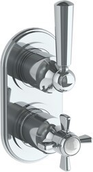 WATERMARK 206-T25 PARIS 6 1/4 X 3 1/8 INCH WALL MOUNT THERMOSTATIC SHOWER TRIM WITH BUILT-IN CONTROL