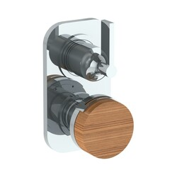 WATERMARK 21-T25 ELEMENTS 6 3/8 X 3 1/2 INCH WALL MOUNT THERMOSTATIC SHOWER TRIM WITH BUILT-IN CONTROL